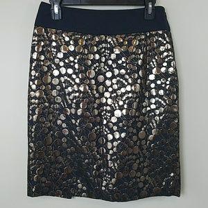 🔆The Limited Metallic Gold Dot Pencil Skirt